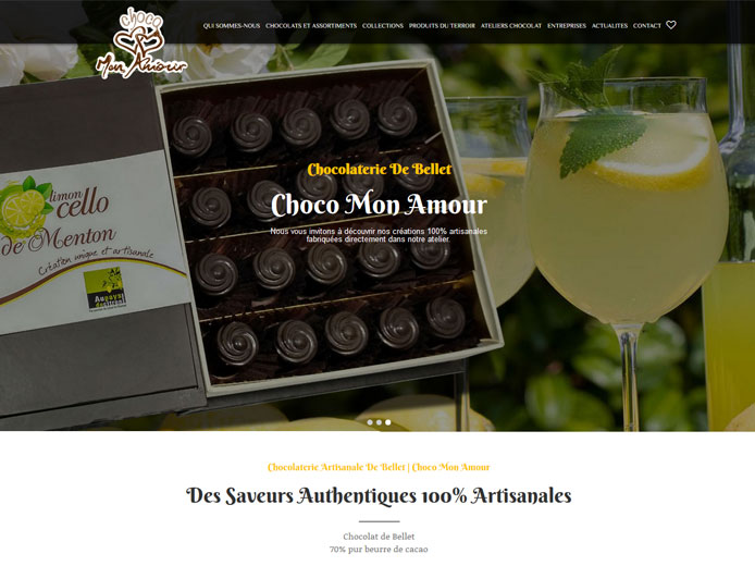Website Development | Choco Mon Amour