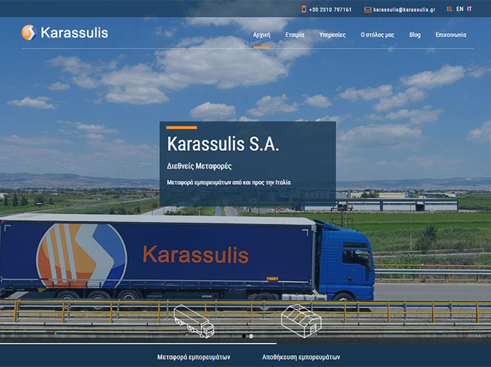 Website Development | International Transports